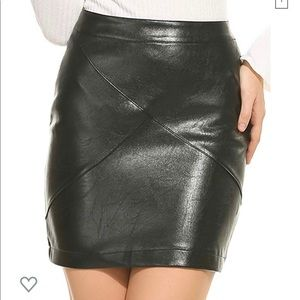 Faux Leather miniskirts! Black and Red.
